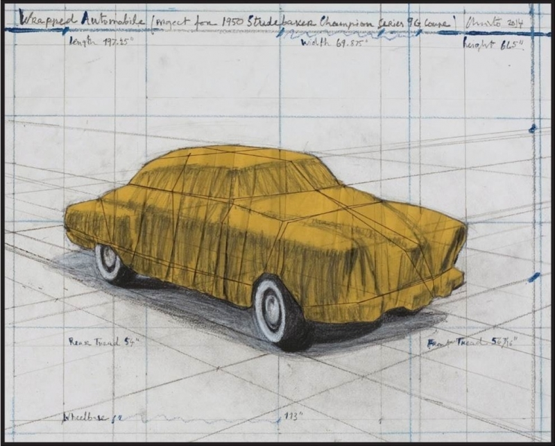 Christo - Wrapped Automobile (Project for 1950 Studebaker Champion, Series 9 G Coupe)