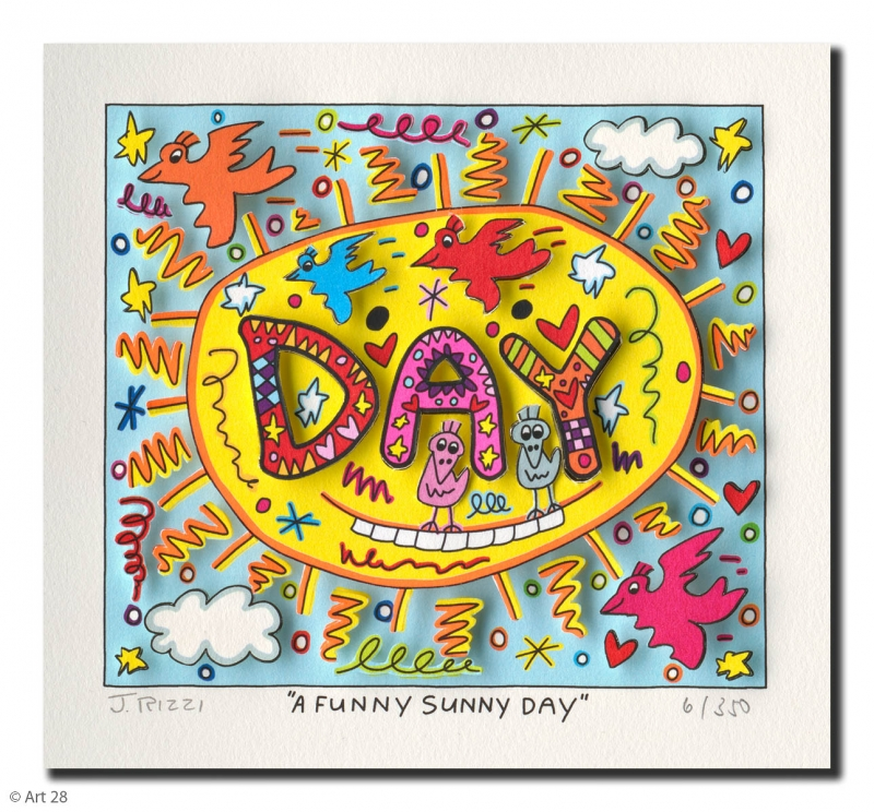 James Rizzi - RIZZI10182 a funny sunny day