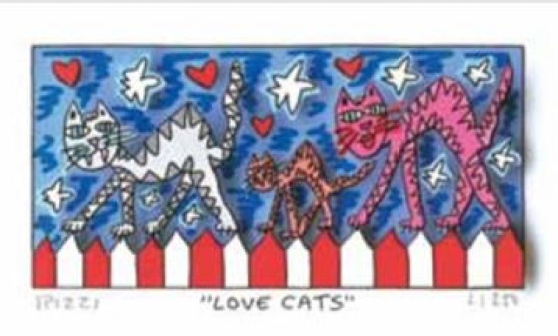 "James Rizzi RIZZI10273 ""LOVE CATS"" 6 x 12 cm"