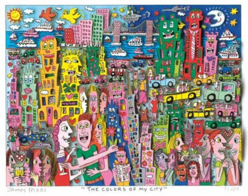 "James Rizzi RIZZI10278 ""THE COLORS OF MY CITY"" 28,5 x 36,5 cm"
