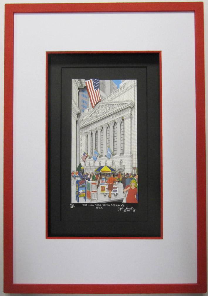 New York Stock exchange John Suchy 3-D-Popart