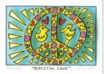 James Rizzi RIZZI10257 �PEACEFUL LOVE� 5,1 x 7,7 cm